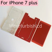 Wholesale Lamination Adhesives - Front Glass with bezel Frame mold set LCD Lamination soft silicone pad Mould for iPhone 7 plus silica gel pad mold foam adhesive mat jig