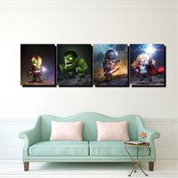 Wholesale marvel canvas - Marvel Iron Man Raytheon,4 Pieces Home Decor HD Printed Modern Art Painting on Canvas (Unframed Framed)