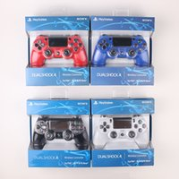 Wholesale Free Games Box - PS4 controllers Wireless Controller Game Controllers Double Shock playstation PS 4 with retail box DHL Free