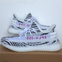 Wholesale 2017 Discount Kanye West SPLY Boost V2 Zebra CP9654 Zebras Lows Man Woman Sneakers BRED Sports Running Shoes With Box