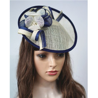 Piattino Avvolto Sinamay Floreale Ispirato Cappello Percher Fascinator Tilt Chiesa Vestito Festa Bandana Wedding Party A450