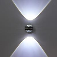 ingrosso lampade da letto minimalista della camera da letto-Moderno minimalista applique da parete 2W AC85V-265V LED applique da parete su / giù soggiorno camera da letto lampada da comodino lampada da parete corridoio