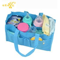 Wholesale baby bicycle stroller - Wholesale- 2017 1 pic NEW Mummy package bag Mummy package grid separated baby bicycle stroller pram stroller handbag baby carriage Bag TMM5