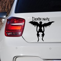 Wholesale Winged Death - Wholesale 10pcs lot Death Note Devil and Angel Wings Heaven Horror Funny Art Car Sticker for Window Bumper Auto Door SUV Laptop Vinyl Decal