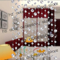 Wholesale Crystal Window Beads - Sheer Curtains 1611 free shipping 10 meters glass crystal beads curtain window door curtain passage wedding backdrop