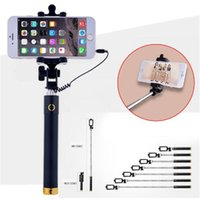 Hot Universal Portable Wired Stretchable Selfie Stick para el iPhone Samsung Galaxy Huawei Sony HTC Mini Xiaomi Trípode Monopod