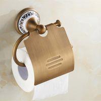 Wholesale Gold Bathroom Toilet Paper Holder - Luxury Brass Gold Paper Box Tiusse Roll Holder Toilet Gold Paper Holder Tissue Box Wall Mounted Bathroom Toilet Accessories Bath Hardware