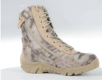 Outdoor Hiking Python camouflage Chaussures Men Tactical Military Bottes Desert SWAT Combat Boots Bottes respirantes de camouflage