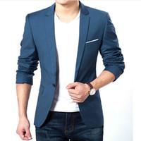 Wholesale Suits Blazers Men - Autumn Clothes Men Suit Jacket Casaco Terno Masculino Blazer Cardigan Jaqueta Wedding Suits Jackets
