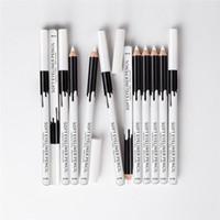 Wholesale Wood Pen Pencil Set - 12pcs lot MENOW Brand Makeup Silky Wood Cosmetic White Eyeliner Pencil Silkworm White Highlight Pen 12pcs set Waterproof Eyeliner P112