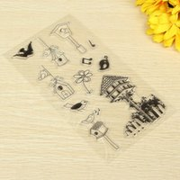 Wholesale Accounting Tools - Wholesale- KIWarm Bird House Mixed pattern Transparent Stamp for Scrapbooking Photo Album Diary Greeting Card Hand Account Decor DIY Tool