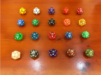 Wholesale Gaming Set - mix wholesale 7pcs  Set Resin Polyhedral TRPG Games For Dungeons Dragons Opaque D4-D20 Multi Sides Dice Pop for Game Gaming