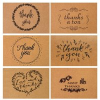 Wholesale Vintage Birthday Greeting Cards - 15*10cm Vintage Kraft Paper Thank You Card With Envelope For Thanksgiving Greeting Card Best Happy Birthday