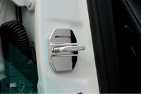 Wholesale Door Lock Protection Cover - Benz door lock cover new E grade C grade E260L GLK M grade door lock protection cover stainless steel modification