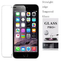 Wholesale Tempered Glass For Mobiles - 9H Tempered Glass for the iPhone7   7plus 2.5D straight edge LG G5 Samsung S6 Explosion-proof Glass Film 0.4mm Mobile Phone Screen