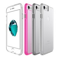 Wholesale Clear Plastic Iphone Cases - For Iphone 8 Case Transparent Clear Hybrid Bumper Shockproof Case Cover Phone Accessories For Iphone 8 8plus