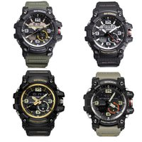 Wholesale Digits Led Watch - AAA quality new style relogio waterproof dual display Compass GG1000 LED watch Thermometer army LED chronograph watches military watch digit