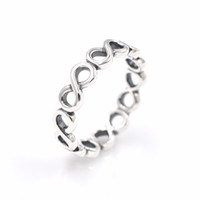 Wholesale Tibet Silver Jewellery - Infinite Shine ring women's S925 sterling silver fits for pandora style bracelet and charms jewellery Free Shipping