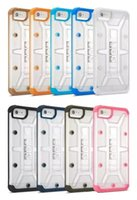 Wholesale Transparent Plastic Cover For Boxes - For iphone 7 plus Hybrid Transparent Shockproof Armor Hard Case Cover for iphone 5S 6 plus Samsung Galaxy S6 S7 edge w  Retail Box with LOGO