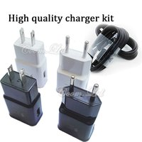Wholesale 5v a V a EU US usb fast charger usb home wall charger adapter fit for v V with US and EU plug for samsung s6 s7 s7 edge s8 s8