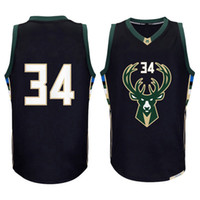 Wholesale Embroidery Sleeveless - men new 34# Giannis Antetokounmpo jersey #12 Jabari Parker basketball jerseys High quality embroidery logos fast free shipping