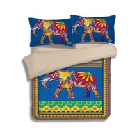 Wholesale Colorful Quilt Bedding - Bohemia colorful camel elephant Duvet Cover Set 2PC 3PC 4PC Quilt Cover Bedsheet Pillowcase Twin Full Queen King Bedding Sets