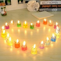 Wholesale Romance Box - Fan 24pcs box jelly candles Creative fantasy romance novel ocean European candlelight dinner household adornment candles