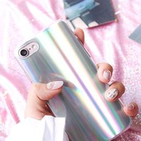 Wholesale Bling Phone Designs - Holographic Laser Phone Case Sparkle Bling Glitter Shiny Design Cover For iPhone 8 7 6s 6 plus VIVO X20 OPPO R11 Plus Opp