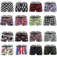 Discount sexy clear male underwear - 6pcs lot Brands Quality Sexy Men's Boxers Shorts Cartoon Geometric Printing Male Underpants Man's Underwear L XL XXL Spandex