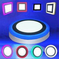 Discount led square panels rgb - LED Downlight 6W 9W 16W 24W Round Square Cool White Pink Red Blue Green Warm White RGB LED Ceiling Recessed Panel Light AC85-265