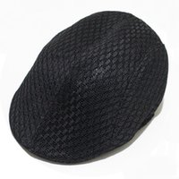 Unisex Sommer Hollow Out Breathable Mesh Beret Newsboy Gorras Planas Flat Cap Berets Dirving Casual Vintage Hut