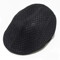 Unisex Summer Hollow Out Breathable Mesh Beret Newsboy Gorras Piano Pieghe Berets Berret Dirving Casual Vintage Hat