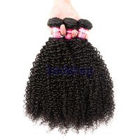 Cheap 8A Brazilian Kinky Curly Hair Brazilian Deep Curly tisser des cheveux 3 paquets 100% Human Hair Only pour les USA Black Women Natural Black