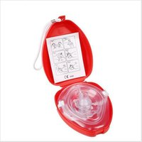 Wholesale CPR Resuscitator Rescue First Aid Masks Breath One way Valve Health Tools cm