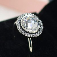 Wholesale High Quality Silver European Charms - High quality 100% 925 Sterling Silver Brilliant Legacy Ring with Clear CZ European Pandora Style Jewelry Charm