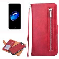Wholesale Iphone Leather Case F - For iPhone 7 Plus Separable Crazy Horse Texcture Horizontal Flip Zipper Leather Case with Card Slot&& Wallet&Photo F