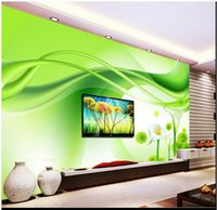 fondo de pantalla de loto en casa al por mayor-Papel pintado de la foto 3D personalizados murales de pared wallpaper mural de belleza Caballo verde de la herradura de la flor de loto papel de pared decoración del hogar