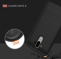 Wholesale Case Mate Phone - for Huawei Mate 9 Phone Cover Carbon Fiber Brushed TPU Mobile Phone Case Cover for Huawei Mate9 Shell Funda Capa Para