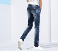 Wholesale Korean Casual Trousers For Men - Wholesale-2016 New Brand Men's jeans Homme Korean Style Casual Thin Summer Trousers High Quality Slim Straight Long Pants Denim For Man