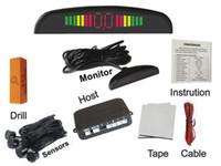 Wholesale parking aid sensors - LED Parking Sensor Rader Bibi Sound Alarm Car Reversing Aid 4 Sensors Multiple Colors PZ300 LCD Parking Sensor In Stock