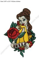 "Wholesale Beauty Craft - 3.75"" Beauty and The Beast Princess Belle 2017 TV MOVIE SERIES EMBROIDERED Sew On Iron On Patch TRANSFER Badge Sewing Craft"