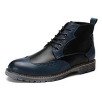 Wholesale Dress Shape Charm - Brand Luxury Mens Dress Boots Genuine Leather High Quality Ankle Boots Men Shoes for Business Genuine Leather Mens Dress Shoes 8955