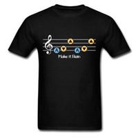 Wholesale Custom Zelda - Legend of Zelda Make it Rain Men's T-Shirt Ocarina of Time Song of Storms Custom Sports Tee Shirts