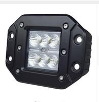 Wholesale Utv Light Led - wholesale 4Inch 18W Work Light High Intensity CreeLed Chip Flush Mount Led Cube Offroad Light for 12v 24v Truck UTV SUV