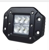 Vente en gros 4 Inch 18W Work Light High Intensity CreeLed Chip Flush Mount Led Cube Offroad Light pour 12v 24v Truck UTV SUV