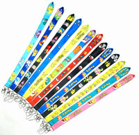 Wholesale Wholesale Chu - Cartoon 13 style Pika-chu Colorfull Neck Strap Ring Lanyard hanging Charming Charms For Cell Phone MP3 MP4 Flash Drives ID Cards Cellphone