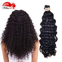 Wholesale Remy Bulk Hair For Braiding - Virgin Remy Unprocessed Human Hair Bulk Deep Curly Wave brazilian Human Braiding Hair Bulk No Weft Bulk Human Hair For Braiding