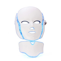 Wholesale Led Light Therapy Microcurrent - 7 Colors Light Photon Electric LED Facial Neck Mask Skin PDT Skin Rejuvenation Anti Acne Wrinkle Removal Therapy Beauty Salon