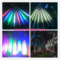 Wholesale Wholesale Led Lights Uk Party - meteor shower 30 CM 8 LEDs led string light UK AU EU US PLUG Mini Light Copper Silver Wire Starry LED Strips For Christmas Halloween party