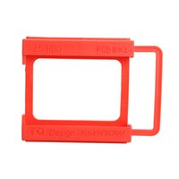 Wholesale Hdd Mounts - Wholesale- 2.5 to 3.5 Inch SSD Notebook HDD Hard Disk Mounting Adapter Dock Holder Red QJY99